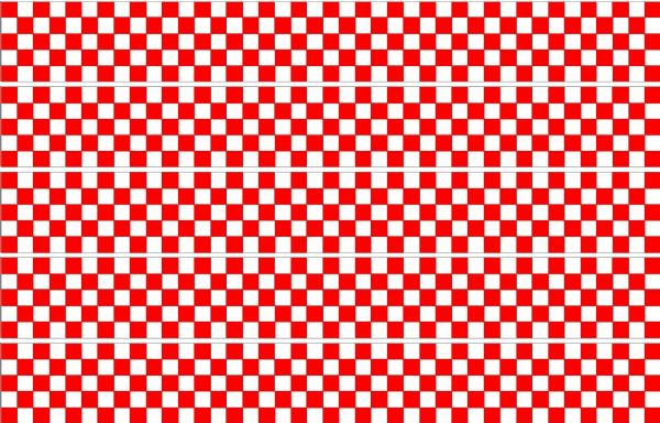 Checker Stripes waterproof Vinyl Sticker vehicle decal RED/WHITE